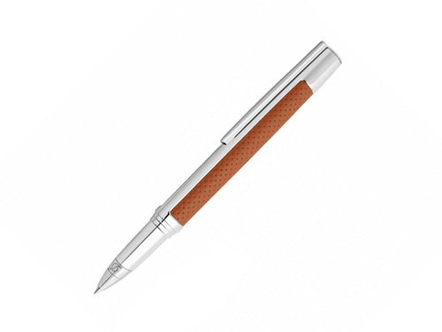 ST Dupont Defi Brown Leather Rollerball Pen