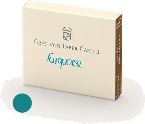 Refill Faber-Castell Turquoise Ink Cartridges