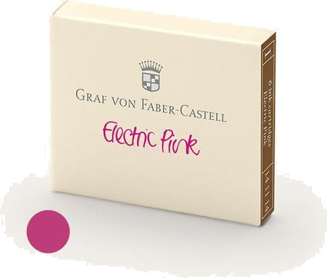 Refill Faber-Castell Electric Pink Ink Cartridges