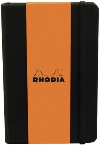 Rhodia - Boutique Webnotebooks Bound 5 1/2 x 8 1/4 Lined Black 96 Sheets (A5)