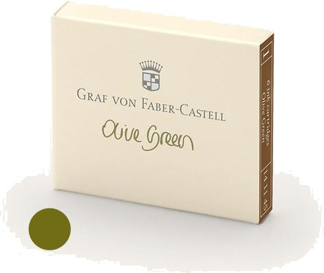 Refill Faber-Castell Olive Green Ink Cartridges