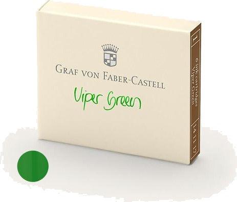 Refill Faber-Castell Viper Green Ink Cartridges