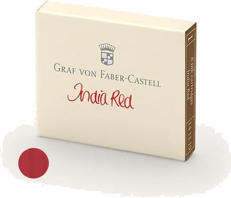 Refill Faber-Castell India Red Ink Cartridges