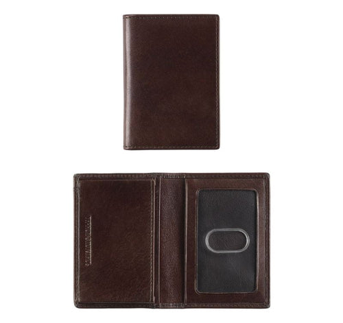 Italian Leather Bifold Card Case
