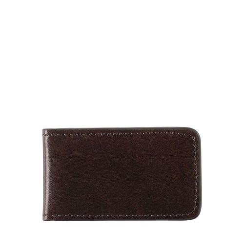 Italian Leather Magnetic Money Clip - Burgundy