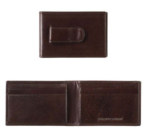 Italian Leather Two-Fold Money Clip Wallet