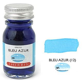 J Herbin Bottled Ink Bleu Azure - 10ml