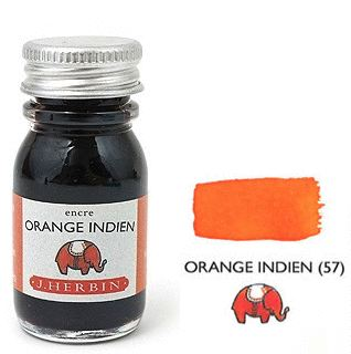 J Herbin Bottled Ink Orange Indien - 10ml