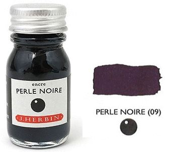 J Herbin Bottled Ink Perle Noire - 10ml