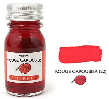 J Herbin Bottled Ink Rouge Caroubier - 10ml