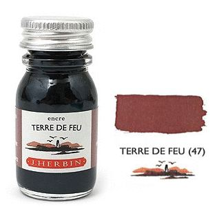 J Herbin Bottled Ink Terre De Feu - 10ml