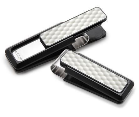 M-Clip Black Anodized White Golfball Money Clip