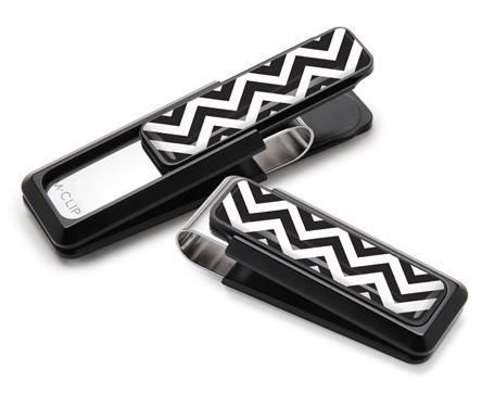 M-Clip Black w/Zigzag Inlay Money Clip