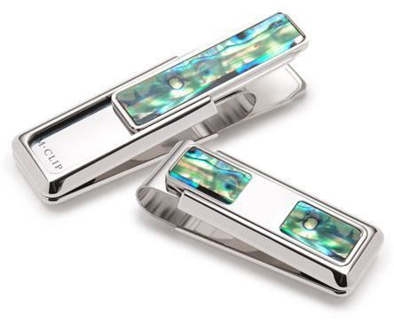 M-Clip Green Abalone 2 Pocket Money Clip