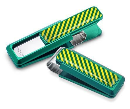 M-Clip Green UV2 w/Green & Yellow Money Clip