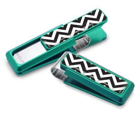 M-Clip Green w/Zigzag Inlay Money Clip