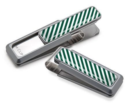 M-Clip Natural UV2 w/Dark Green & White Money Clip