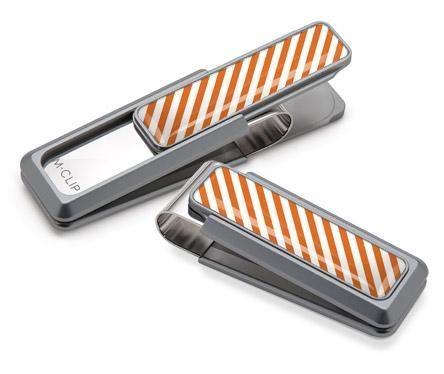 M-Clip Natural UV2 w/Dark Orange & White Money Clip