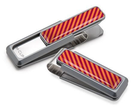 M-Clip Natural UV2 w/Maroon & Orange Money Clip