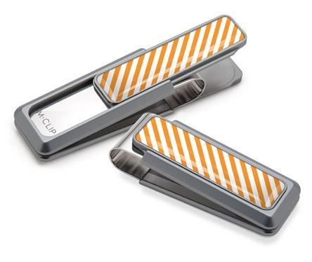 M-Clip Natural UV2 w/Orange & White Money Clip