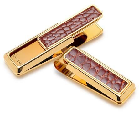 M-Clip New Yorker Cognac Alligator Money Clip