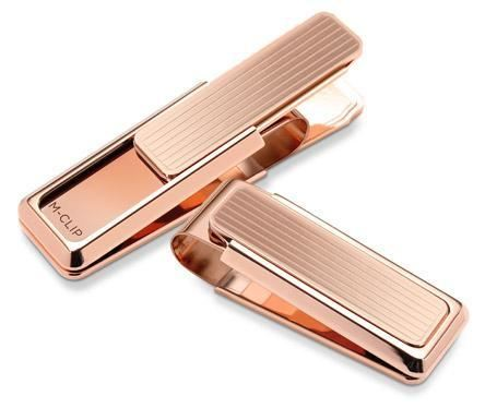 M-Clip Rose Gold Channeled Slide Money Clip