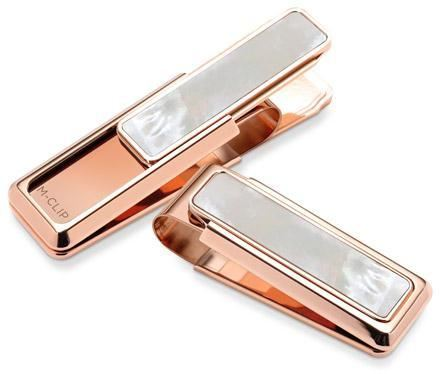 M-Clip Rose Gold White Mother of Pearl Money Clip