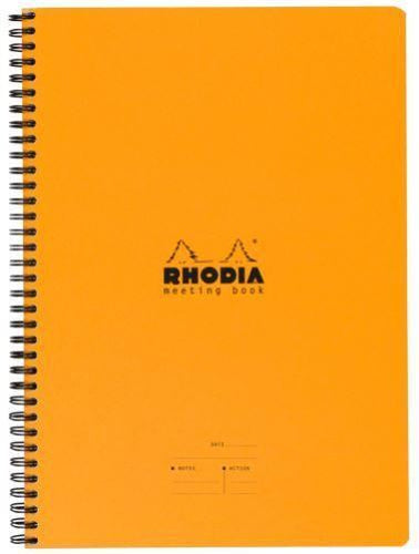 Rhodia - Classic Meeting Book, Orange, Lined, 6 ½ x 8 ¼
