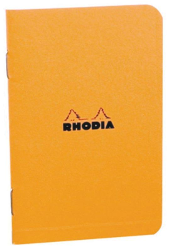 Rhodia - Classic Notebooks Side Staplebound 3 x 4 3/4 Graph Orange 48 sheets
