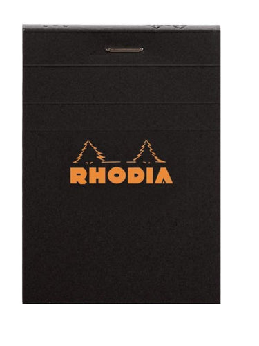 Rhodia - Classic Notepads Top Staplebound 4 x 6 Graph Black 80 sheets