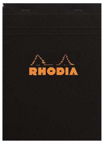 Rhodia - Classic Notepads Top Staplebound 4 x 6 Lined Black 80 sheets
