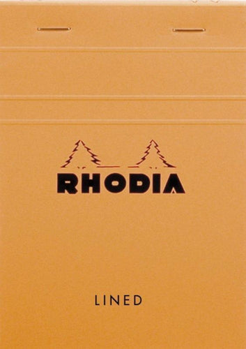Rhodia - Classic Notepads Top Staplebound 4 x 6 Lined Orange 80 sheets