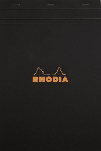 Rhodia - Classic Notepads Top Staplebound 8 ¼ x 11 ¾ Graph Black 80 sheets