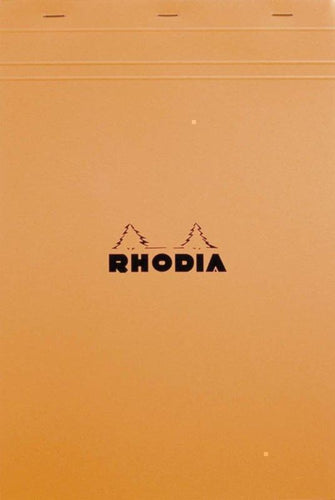 Rhodia - Classic Notepads Top Staplebound 8 ¼ x 11 ¾ Graph Orange 80 sheets