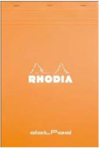 Rhodia - Orange Notepads Dot Grid - 8 ¼ x 11 ¾