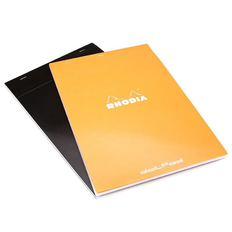 Rhodia - Orange Notepads Dot Grid - 8 ¼ x 12 ½