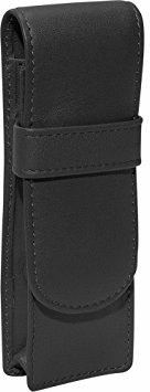 Royce Leather 2 Pen Case Black