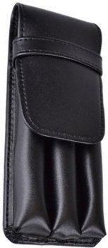 Royce Leather 3 Pen Case Black