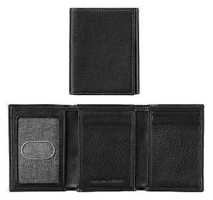 Trifold Wallet - Black - Leather