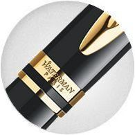 Waterman Expert Black Lacquer & Gold Rollerball Pen
