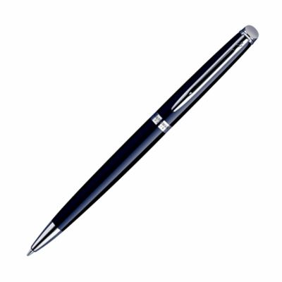 Waterman Hemisphere Black Lacquer & Chrome Ballpoint Pen | Pen Place
