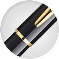 Waterman Hemisphere Black Lacquer & Gold Fountain Pen