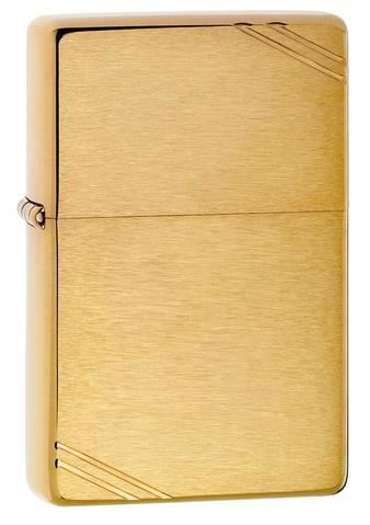Zippo Brushed Brass Vintage with Slashes