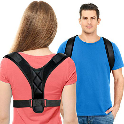Buy the Elastic Posture Corrector For Men & Women / Black / S. Shop  Online - Kewlioo