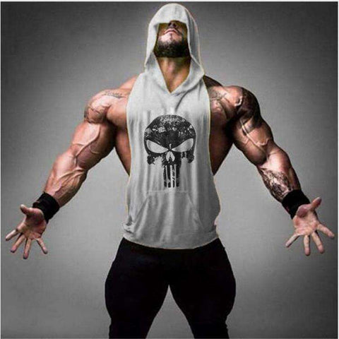 Buy the Hooded Skull Bodybuilding Tank Top. Shop tanks Online - Kewlioo