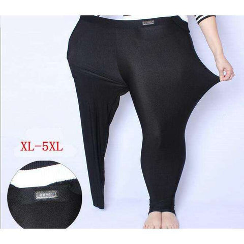 Buy the Large Size Glossy Pants Full-Length Legging. Shop Leggings Online - Kewlioo