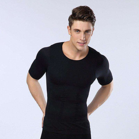 Buy the Men's Compression Slimming Under Shirt. Shop Shapers Online - Kewlioo