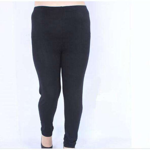 Buy the Winter Plus Size Cotton Leggings / black / XXXL. Shop Leggings Online - Kewlioo