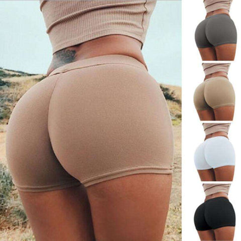 Buy the Women's Seamless High Waist Slim Fit Stretch Hot Pants. Shop Compression Shorts Online - Kewlioo