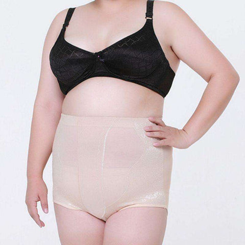 Buy the High Waist Girdle Breathable Sexy Panties for Plus Size Women / Beige / XXXL. Shop Shapers Online - Kewlioo